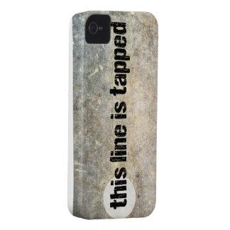 cette ligne est le 4ème cas tapé de téléphone d'am coque iPhone 4 Case-Mate