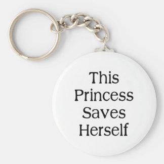 Cette princesse Saves Porte-clef
