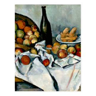 Cezanne - Basket of Apples Postcard