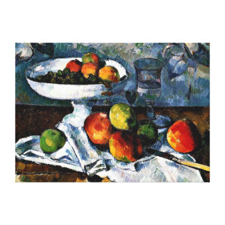 Cezanne - Compotier, Glass and Apples Canvas Print