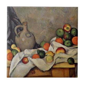 Cezanne - Curtain, Jug and Fruit Tile