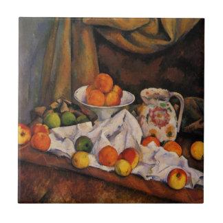Cezanne: Fruit Bowl, Pitcher and Fruit artwork Ceramic Tiles