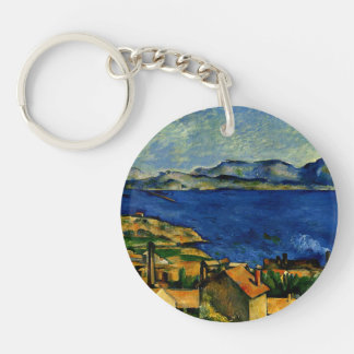 Cezanne - Gulf of Marseille seen from L'Estaque Keychain
