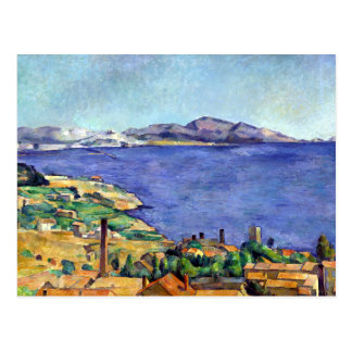 Cezanne Gulf of Marseilles Seen from L'Estaque Postcard