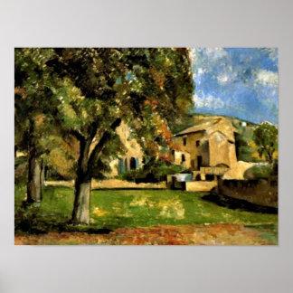 Cezanne - Horse Chestnut Trees in Jas de Bouffan Poster