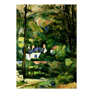 Cezanne - Houses in the Greenery-1881 Poster