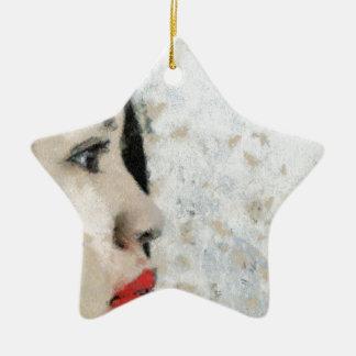 Cezanne Inspired Filipino Girl Ceramic Star Ornament