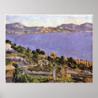 Cezanne - L Estaque vue du golfe de Marseille 1878 Poster
