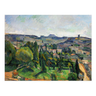 Cezanne - Landscape with Road and Bell Tower Postcard