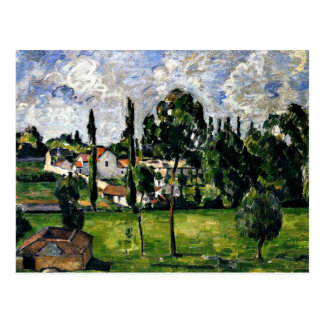 Cezanne - Landscape with Waterline Postcard