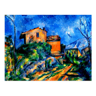Cezanne - Maison Maria with a View of Chateau Noir Postcard