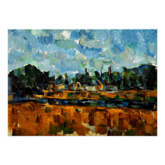 Cezanne - Riverbanks Poster