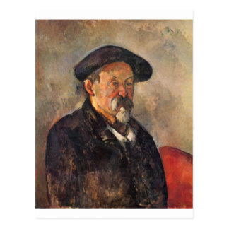 Cezanne - Self portrait with Barett Postcard