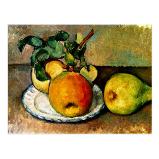 Cezanne - Still Life with Apples and Pears Postcard
