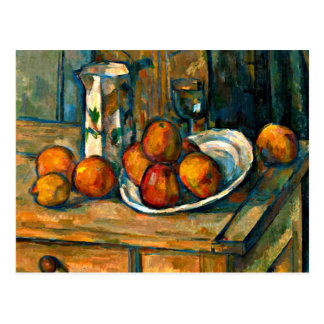 Cezanne - Still Life with Milk Jug and Fruit Postcard
