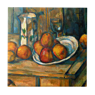 Cezanne - Still Life with Milk Jug and Fruit Tile