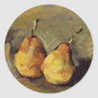 Cezanne - Two Pears Classic Round Sticker