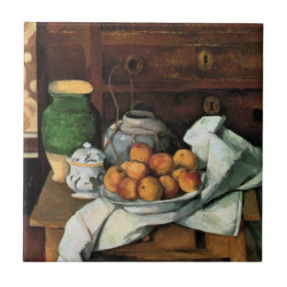 Cezanne - Vessels, Fruit and Cloth Tile