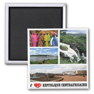 CF - Central African Republic - I Love Magnet