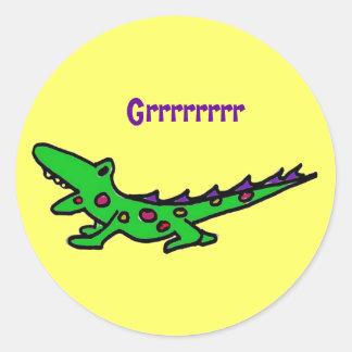 CF- Cute gator critter stickers