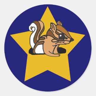 CF- Gold Star Chipmunk Stickers