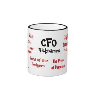 CFO Nicknames Ringer Coffee Mug