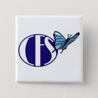 CFS Awareness (Square Button) 2 Inch Square Button