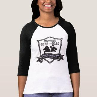 CGAG-Womens baseball black white T-Shirt
