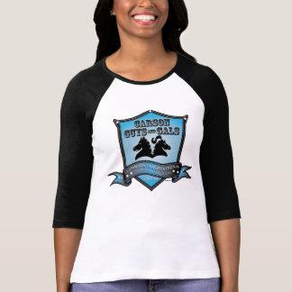 CGAG-Womens baseball blue logo T-Shirt
