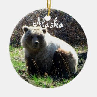 CGB Chubby Grizzly Bear Ceramic Ornament