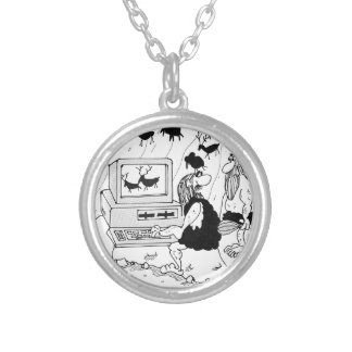CGI Crtoon 2857 Silver Plated Necklace