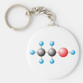 CH3CH2OH alcohol Alco-gets Keychain