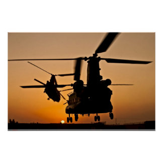CH-47 CHINOOK HELICOPTER POSTER
