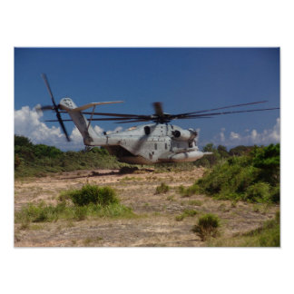 CH-53E Helicopter poster