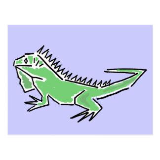 CH- Awesome Iguana Postcard