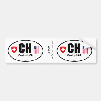 CH Canton USA Bumper Sticker