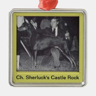 Ch. Sherluck's Castle Rock Metal Ornament