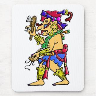 Chac mayan rain god mouse pad