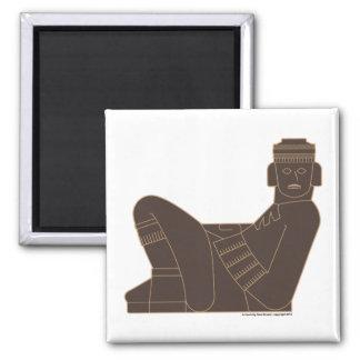 Chac Mool Square Magnet