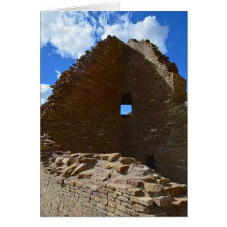 Chaco Canyon corner window Card