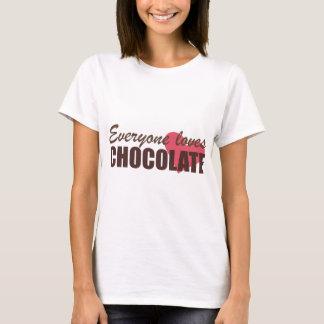 Chacun aime le chocolat t-shirt