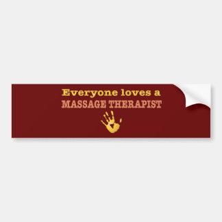 Chacun aime un thérapeute de massage autocollant de voiture