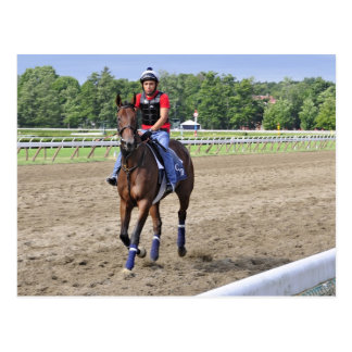 Chad Brown on Saratoga 150 Postcard