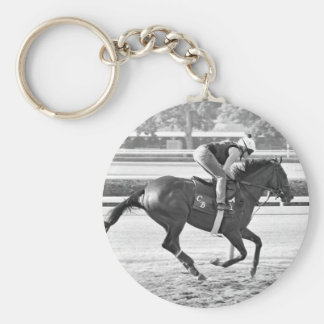 Chad Brown Trainee on Opening Day at the Spa Basic Round Button Keychain