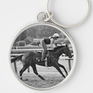 Chad Brown Trainee on Opening Day at the Spa Silver-Colored Round Keychain
