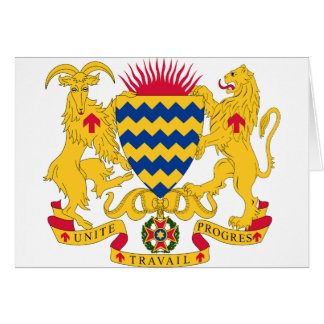 Chad Coat of Arms Card