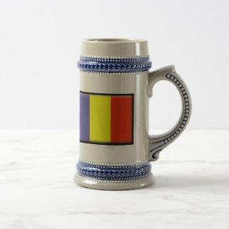 Chad Flag Beer Stein