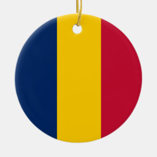 Chad Flag Ceramic Ornament
