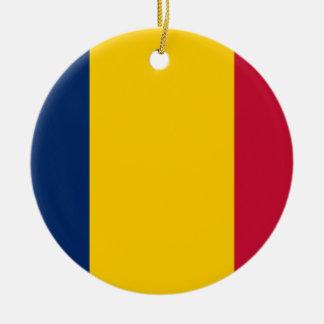 Chad Flag Ceramic Ornament