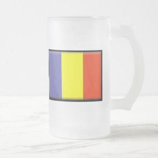 Chad Flag Frosted Glass Beer Mug